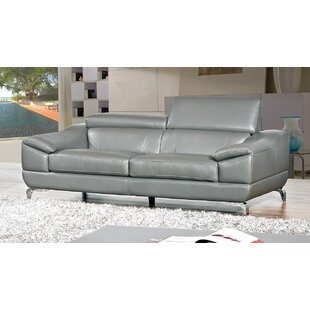 Richert Leather Sofa Orren Ellis