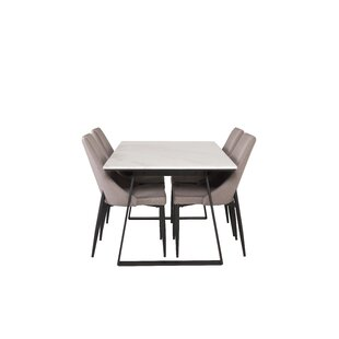 Review Mabel Dining Set With 4 Chairs