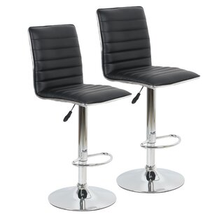 Beech Hill Adjustable Height Swivel Bar Stool (Set of 2) by Orren Ellis