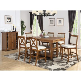 Courson 7 Piece Counter Height Dining Set Rosecliff Heights