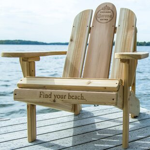Corona Solid Wood Adirondack Chair with Table