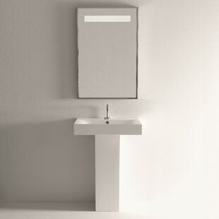 Savings Cento Ceramic 34.4 Pedestal Bathroom Sink with Overflow By WS Bath Collections