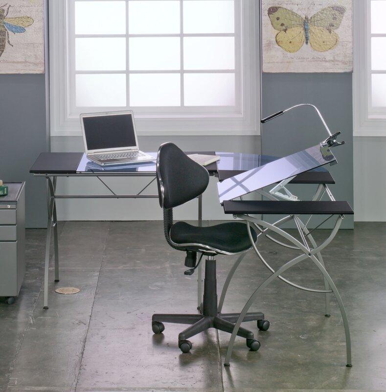 Catalina L Shape Drafting Table