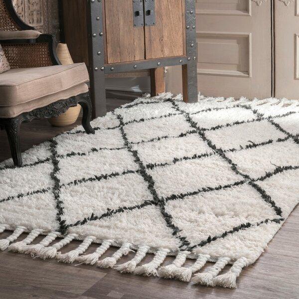 Langley Street Twinar Geometric Hand Knotted Wool Off White Dark Gray Area Rug Reviews Wayfair