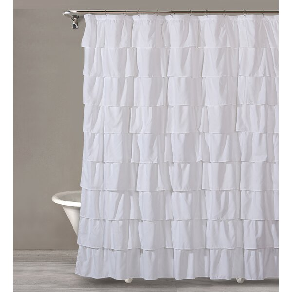 House Of Hampton Keeter Ruffle Shower Curtain Reviews