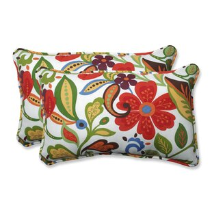 Indoor/Outdoor Wildwood Garden Lumbar Pillow (Set of 2)