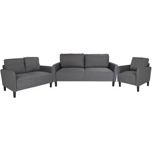 Best Ashbaugh Upholstered 3 Piece Living Room Set by Ebern Designs Reviews (2019) & Buyer's Guide