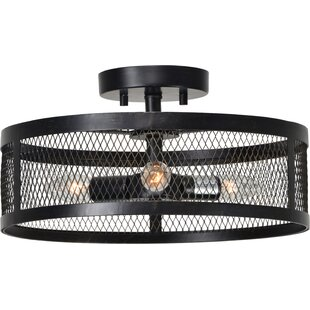 Melchior 3-Light Semi Flush Mount by Gracie Oaks