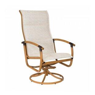Glade Isle Sling High Back Rocker Swivel Patio Dining Chair by Woodard