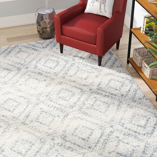 Clarence Ivory/Light Blue Area Rug by Turn on the Brights