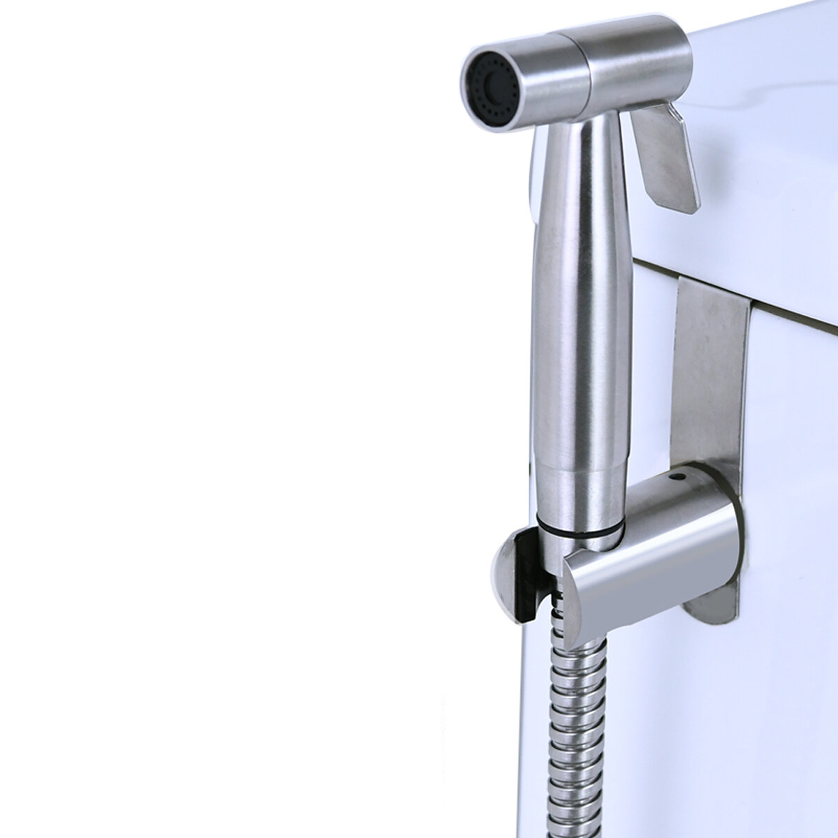 1 X Hanger Hook Bidet Sprayer Shattaf Manual Sprayer Holder Stainless Steel New