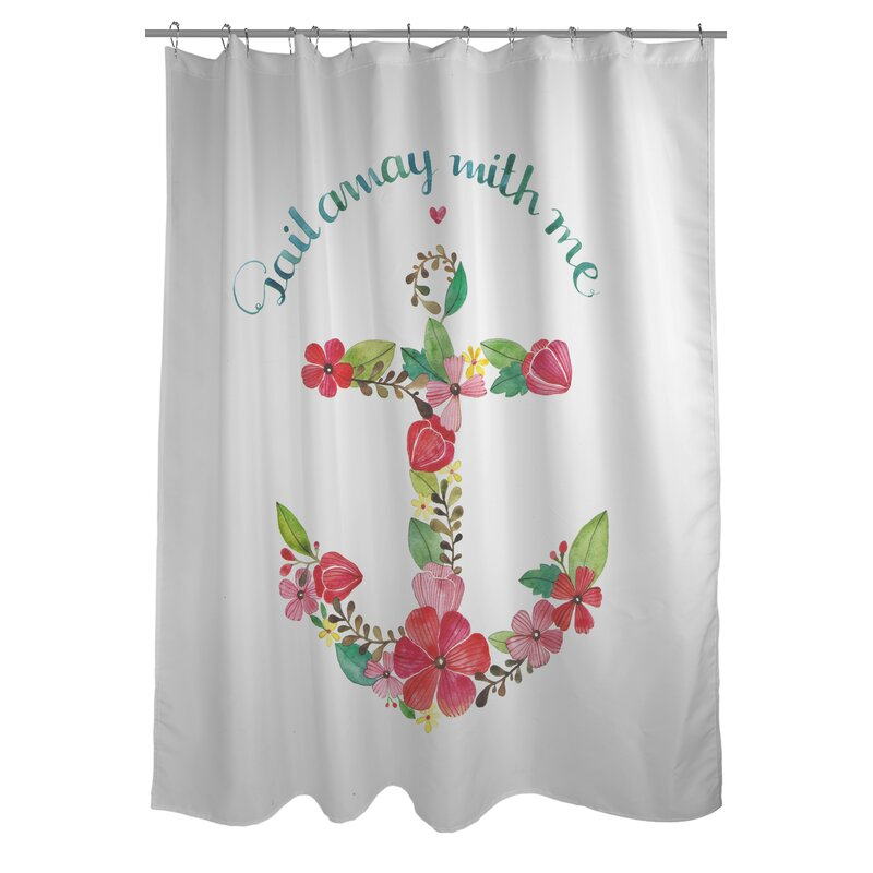 Sail Away Anchor Shower Curtain