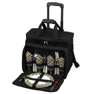 Freeport Park Picnic Cooler for Four with Wheels and Hand Grip