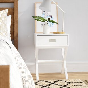 Arbuckle Wooden X-Shape End Table with Storage by Wrought Studio