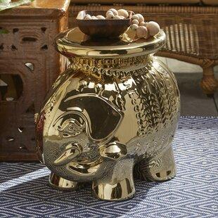 Haysi Elephant Garden Stool by Bungalow Rose