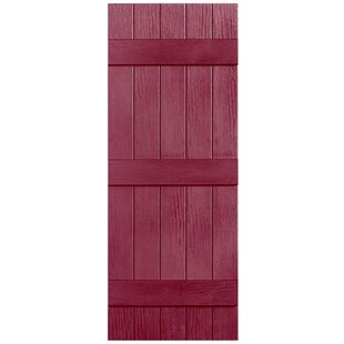 3 Batt Closed 5 Board Shutter Single By Alpha Shutters