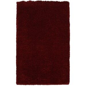 Hand-Woven Burgundy Area Rug