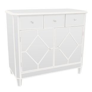 Amott Mirrored 3 Drawer Accent Cabinet by House of Hampton