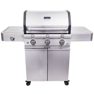 Cast 500 3 Burner Cart Gas And Charcoal Grill By Saber
