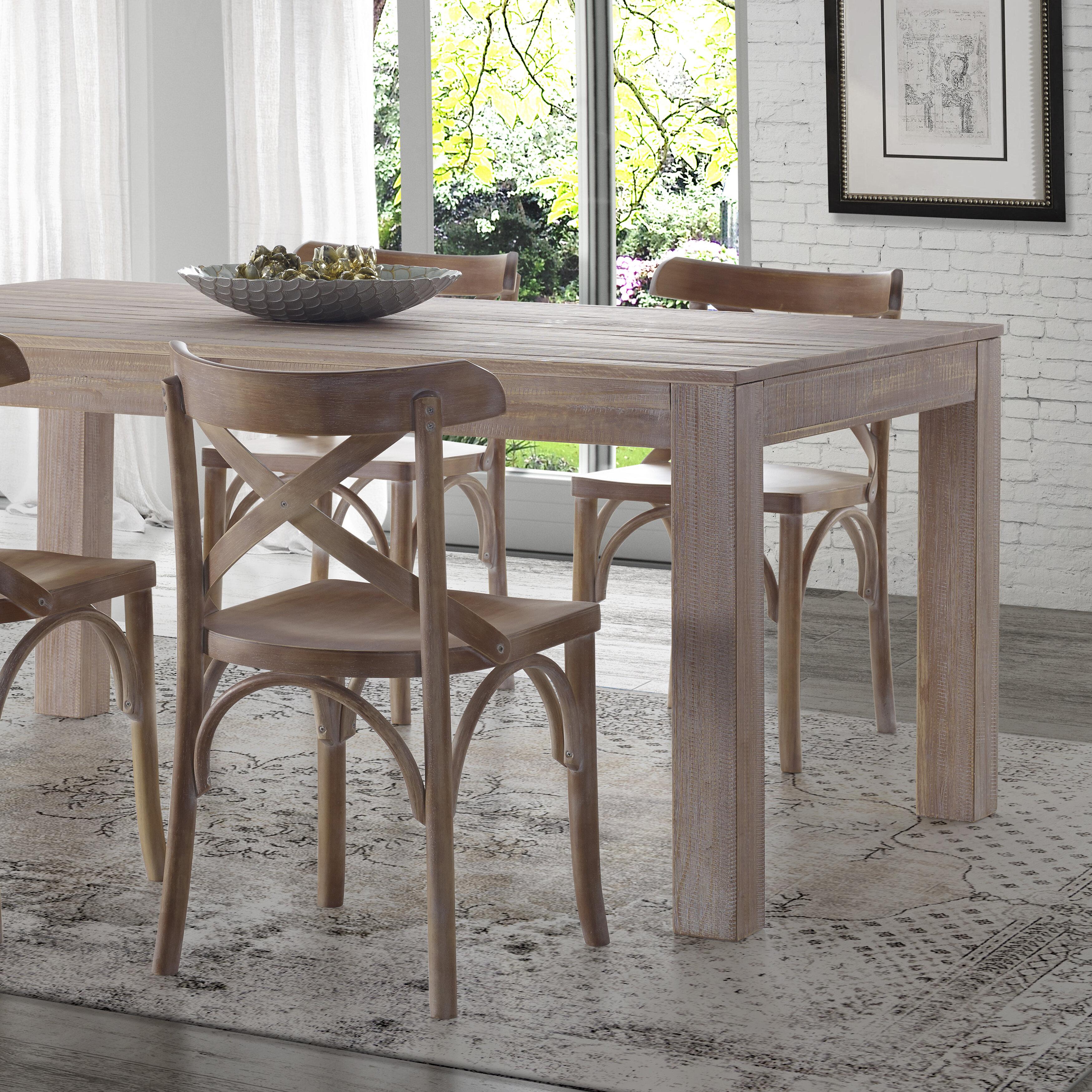 Wayfair.com & Montauk Solid Wood Dining Table