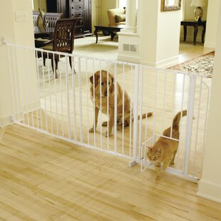 Guillermo Maxi Pet Gate with Pet Door & Baby Gate With Cat Door | Wayfair