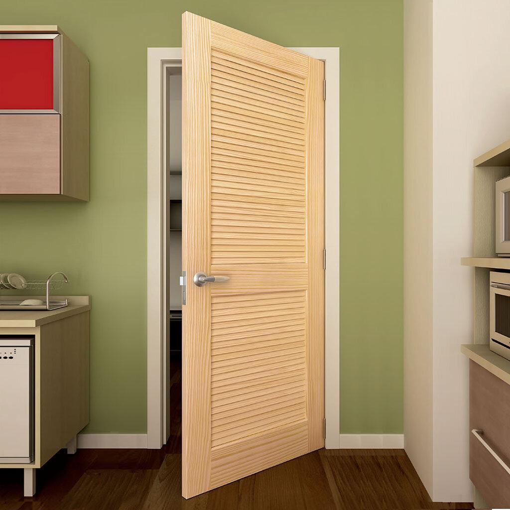 Kiby Solid Wood Louvered Slab Interior Door Reviews Wayfair