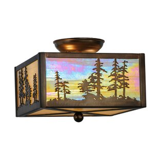 Meyda Tiffany Tall Pines 2-Light Flush Mount