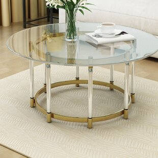 Haydel Tempered Glass Coffee Table Mercer41