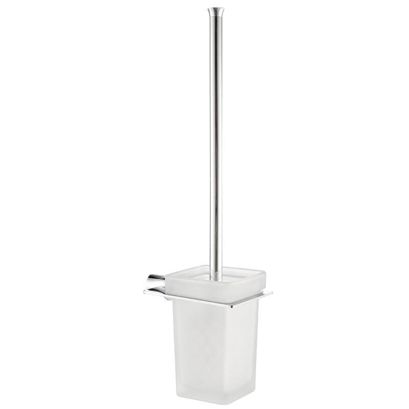 Latitude Run Azaleea 17 81in H Wall Mounted Toilet Brush And Holder Wayfair