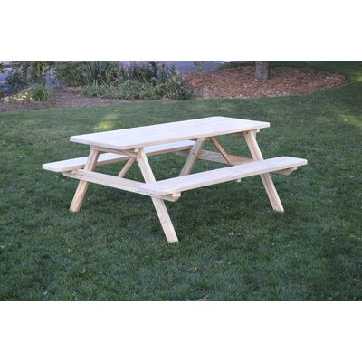 Seneca Solid Wood Picnic Table by Loon Peak Today Sale Only
