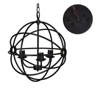 Brayden Studio Nasir 3-Light Globe Chande..
