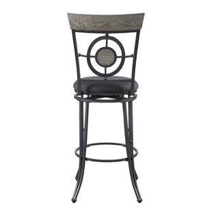 Benedetto 29 Swivel Bar Stool by World Menagerie