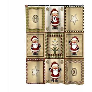 Chayer Americana Country Christmas Santa Shower Curtain