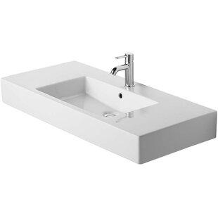 High-End Vero Ceramic Rectangular Vessel Bathroom Sink with Overflow By Duravit