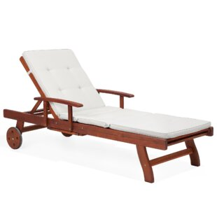 Cana Reclining Sun Lounger With Cushion Image