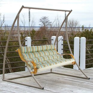 Halstead Cushioned Steel Porch Swing with Stand