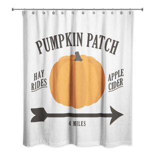 Correa Pumpkin Patch Single Shower Curtain