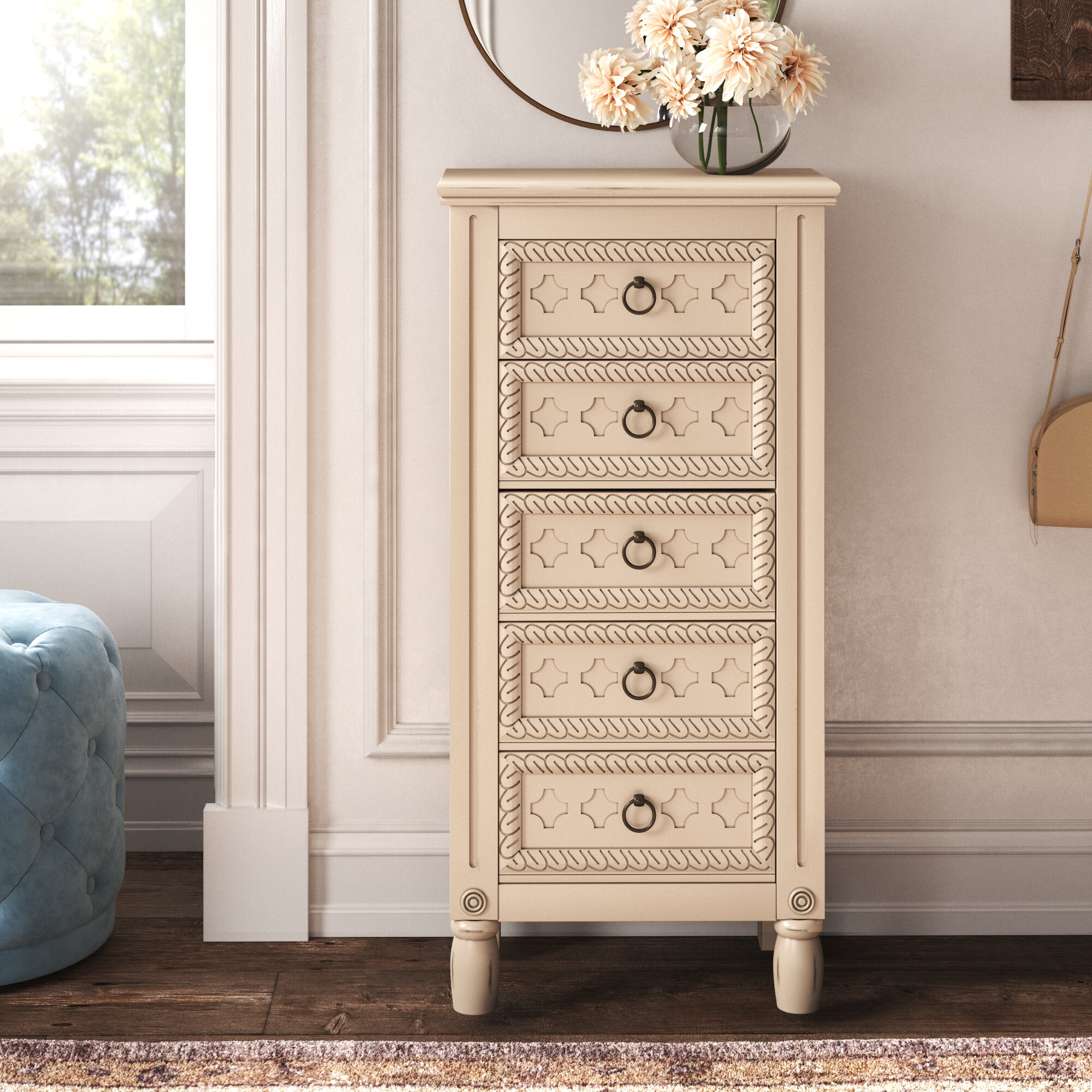 Image of: Kelly Clarkson Home Aerin Free Standing Jewelry Armoire With Mirror Reviews Wayfair