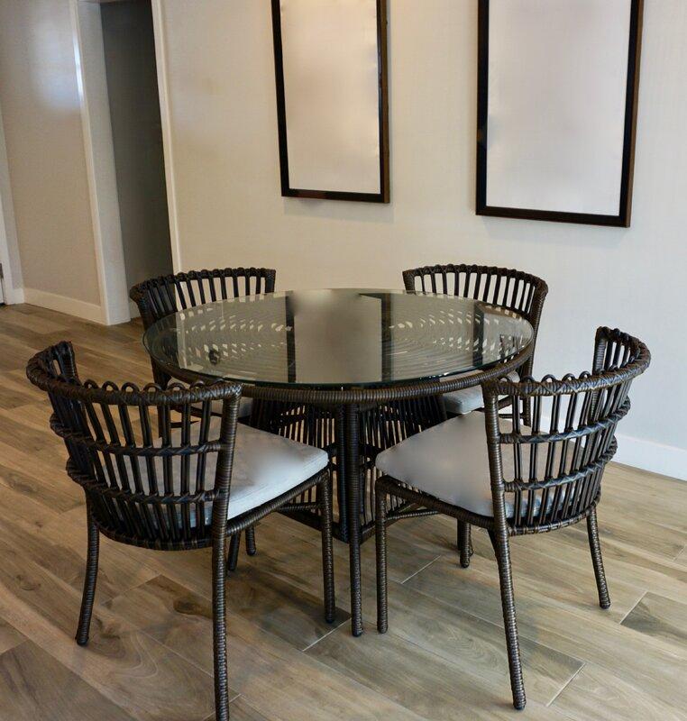Bayou Breeze Iconium 5 Piece Dining Set with Cushions