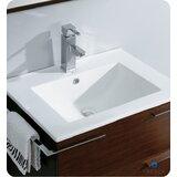 Cielo 24 Single Bathroom Vanity Set with Mirror by Fresca