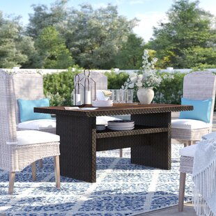 Adele Wicker Dining Table