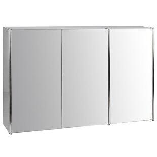 Bathroom Triple 68cm X 45cm Wall Mounted Mirror Cabinet