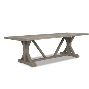 Teak Trestle Solid Wood Dining Table