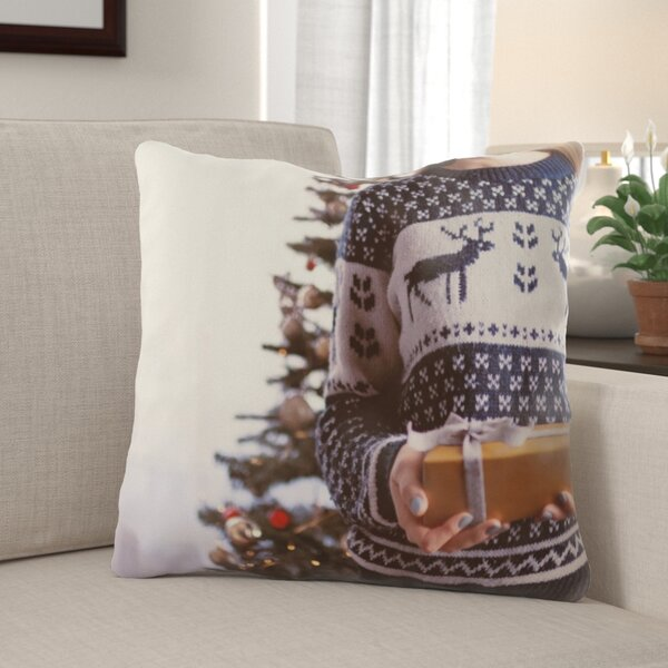 The Holiday Aisle Rawlinson Christmas Indoor Outdoor Canvas Throw Pillow Wayfair