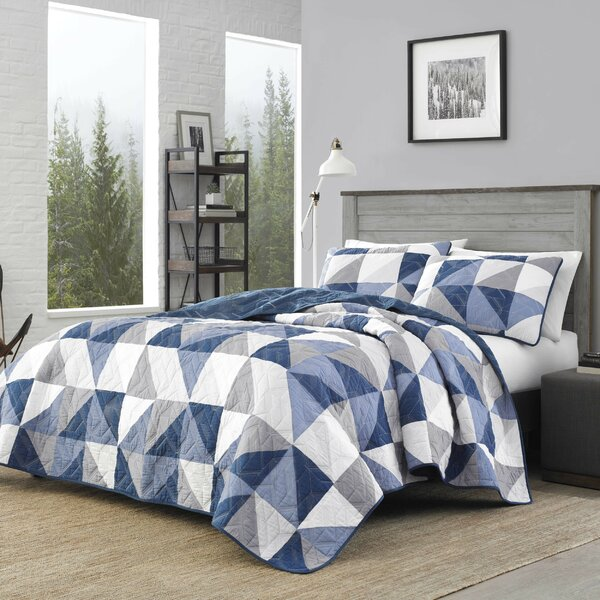 Navy And White Quilt Set Wayfair