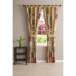 St. John Patchwork Sheer Tab Top Curtain Panels (Set of 2)