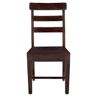 Maliyah Solid Wood Dining Chair (Set of 2) Longshore Tides