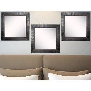 Where buy  Claireville Tuscan Ebony Wall Mirror (Set of 3) ByFleur De Lis Living