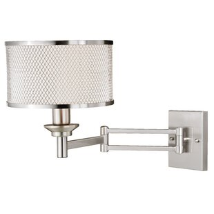 Reviews Hugley 1-Light Swing Arm Lamp By Charlton Home
