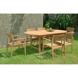 Tarun 7 Piece Teak Dining Set